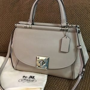COACH Mixed Leather GREY BIRCH DRIFTER Carry All